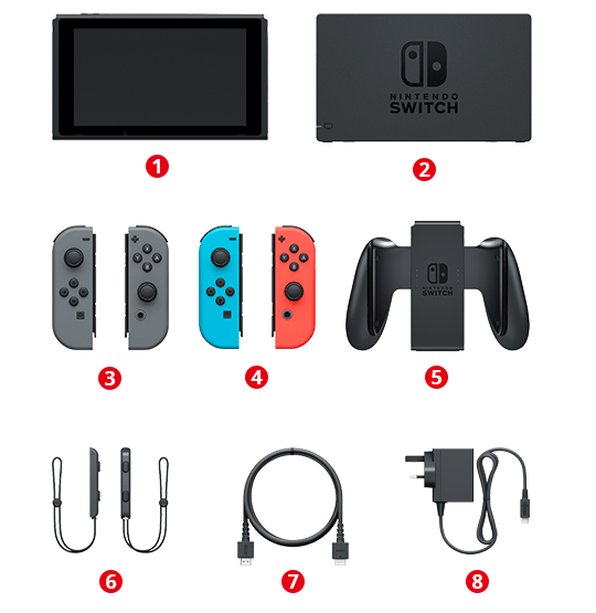 Image result for nintendo switch contents