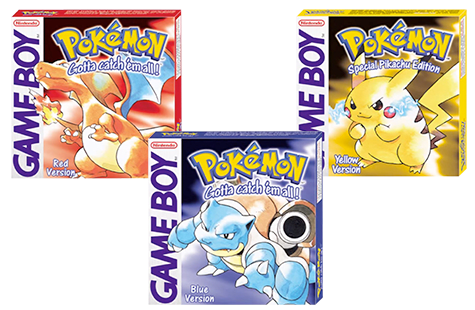 Pokemon Red, Blue and Yellow