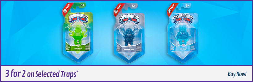Skylanders Trap Team 3 for 2 Selected Traps