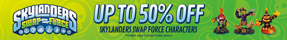 Upto 50% off Skylanders SWAP Force characters