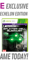 Tom Clancy's Splinter Cell: Blacklist GAME Exclusive Upper Echelon Edition (Xbox 360)