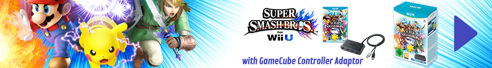 Super Smash Bros. For Wii U With Game Cube Controller Adaptor