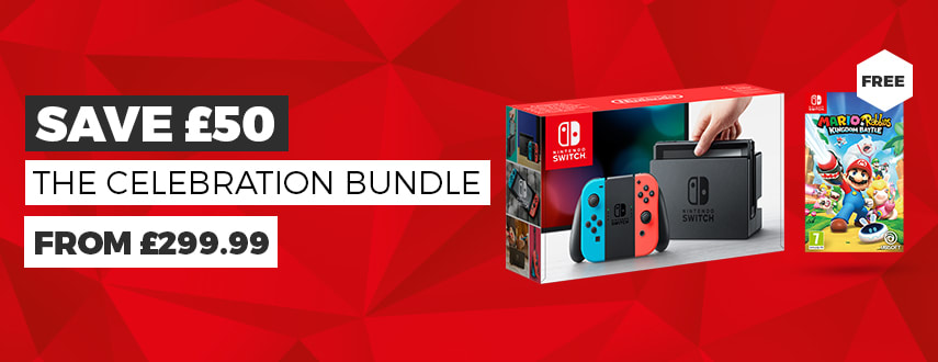The Nintendo Switch Celebration Bundle - Only £279.99 - Buy Now at GAME.co.uk - Homepage Banner