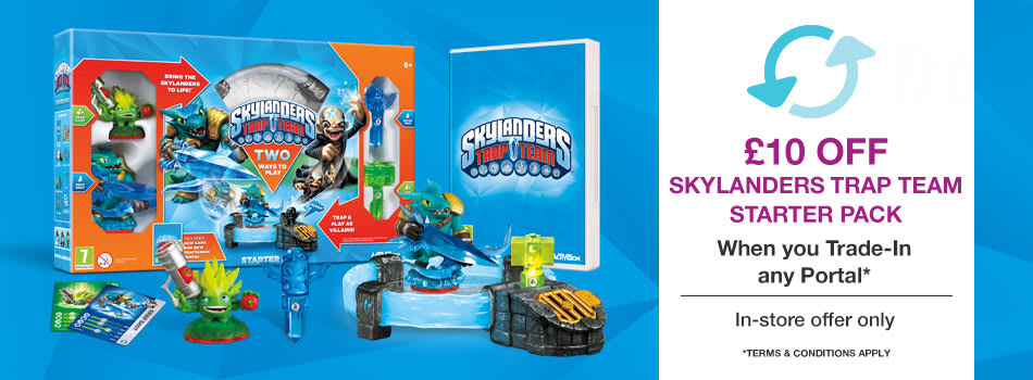 Get 10 Off a Skylanders Trap Team Starter Pack