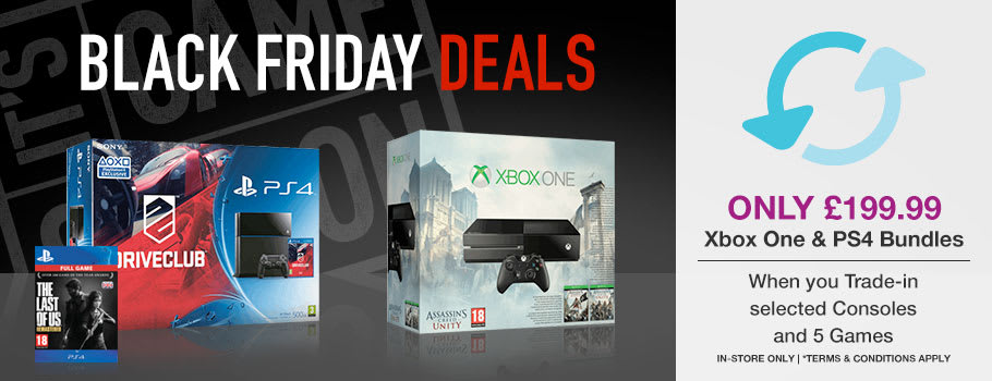 Xbox One and PlayStation 4 console bundles Only £199.99