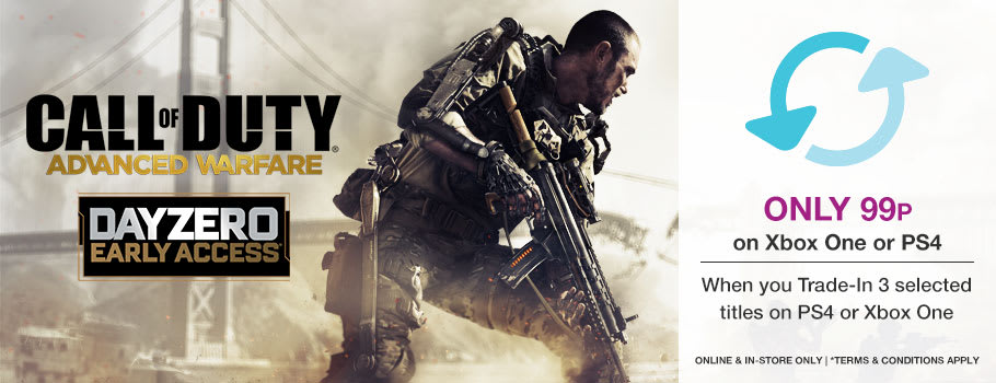 Get Call of Duty: Advanced Warfare Day Zero Edition on Xbox One or PS4 Only 99p