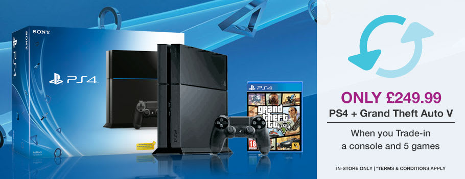 PlayStation 4 + Grand Theft Auto V only £249.99