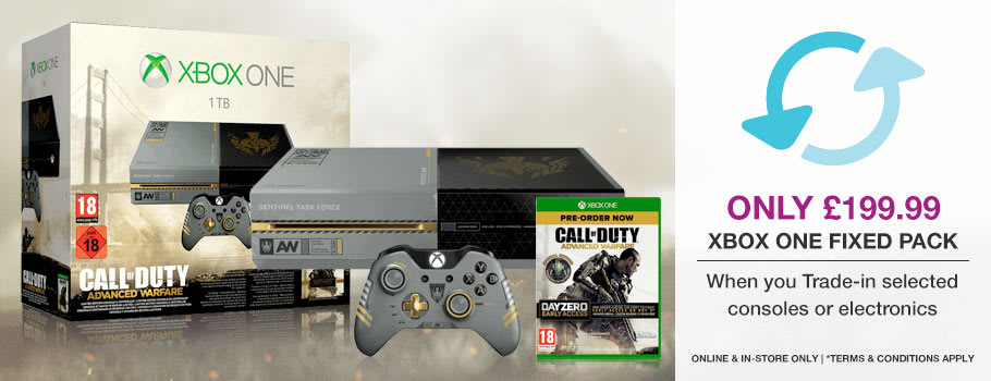 Xbox One Call of Duty Advanced Warfare Fixed Pack Only £199.99 when you Trade-In selected consoles or electronics