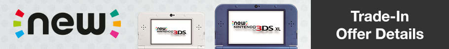 Trade-In selected Nintendo consoles and get a brand new 3DS from only £79.99!