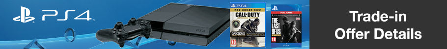 PlayStation 4 + Call of Duty: Advanced Warfare + The Last of Us Download Only £249.99
