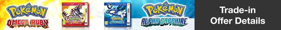 Half Price Pokémon Alpha Sapphire or Pokémon Omega Ruby.