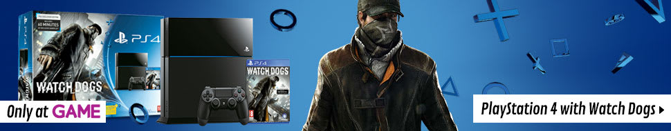 PlayStation 4 with Watch Dogs
