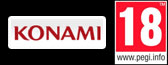 Konami logo - PEGI 16 Logo - Not available to gamers under 16 years of age