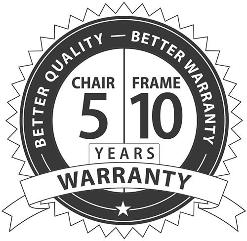 AK Racing Warranty - 5 Years on Chair - 10 Years on Frame