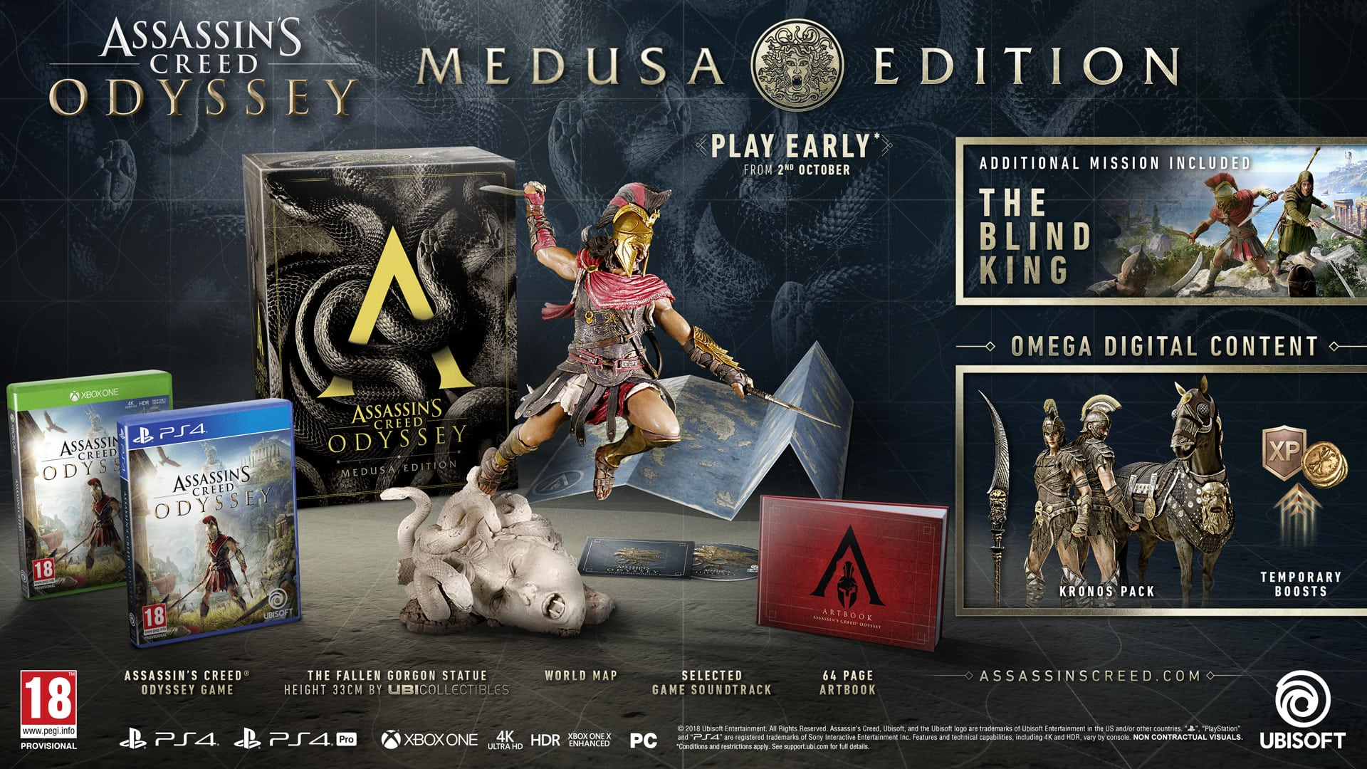 Assassins Creed Odyssey Medusa Edition On Ps4 Game
