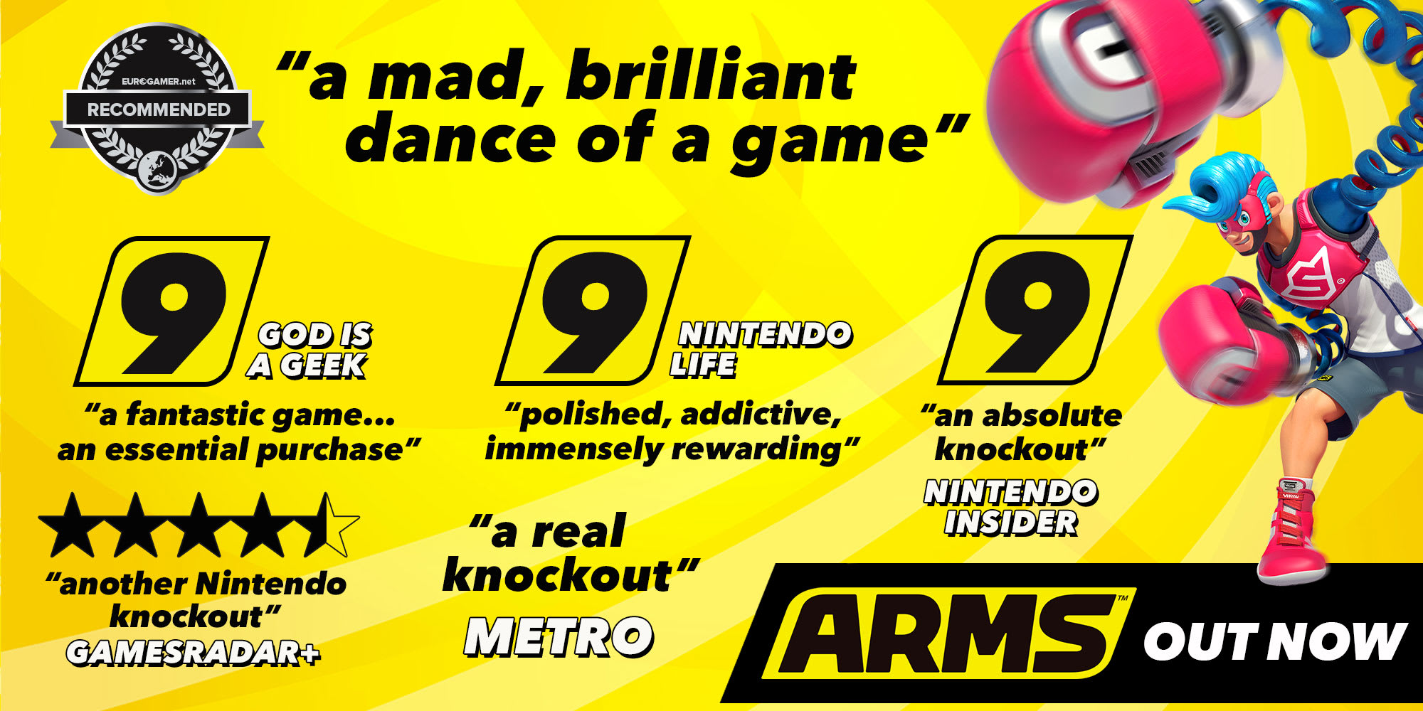 Buy Arms On Switch Free Uk Delivery Game Nintendo Choose A Fighting Champion From Around The World Equip Your Own Combination Of Extendable And Then Use Mix Button Presses Quick