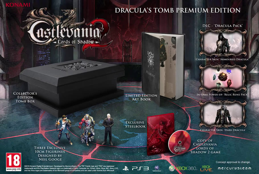 Only at GAME can you sink your teeth into Castlevania Lords of Shadow 2 Dracula's Tomb Premium Edition, complete with exclusive digital and physical content.