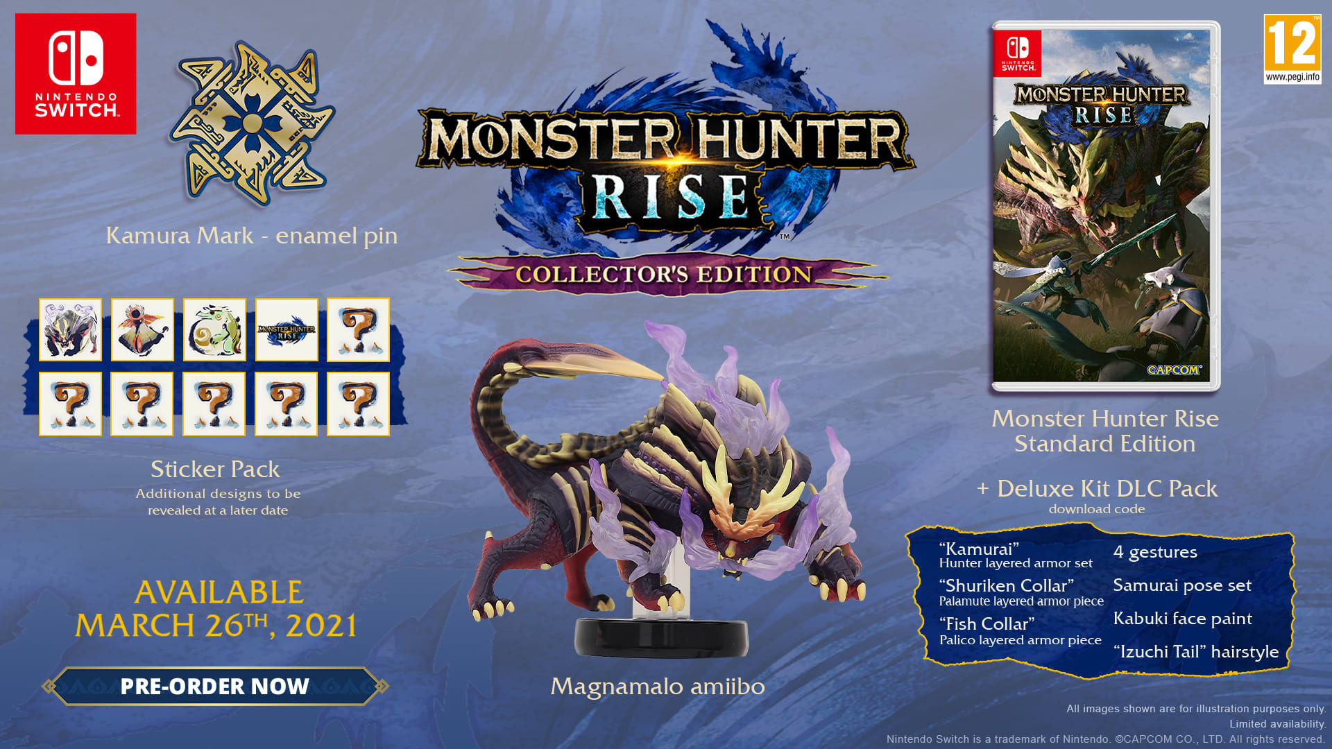 Buy Monster Hunter Rise: Collector's Edition - with Pre-Order Bonus  Steelbook and Keyring on Switch | GAME