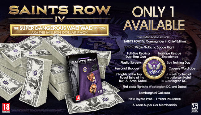 Saints Row IV Super Dangerous WAD WAD Edition aka Million Dollar Pack