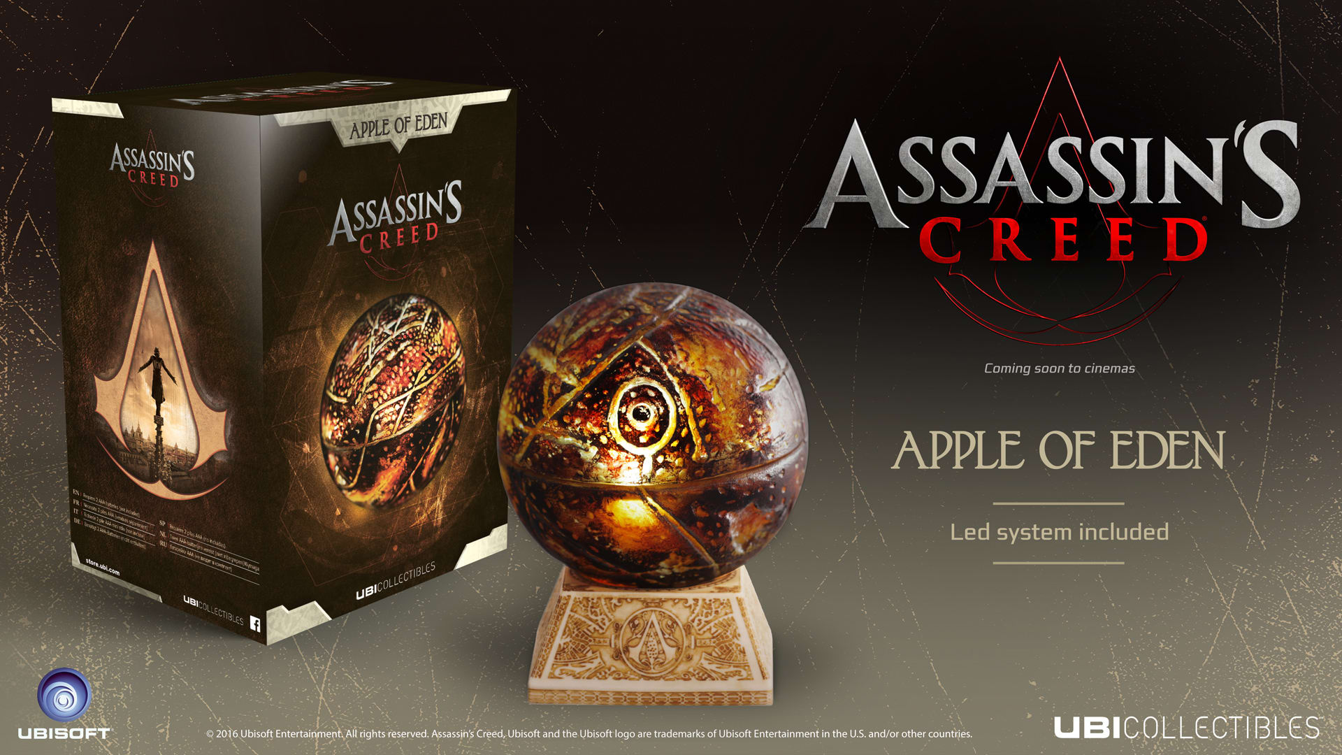 Buy Assassin S Creed Movie Apple Of Eden Life Size Replica Game