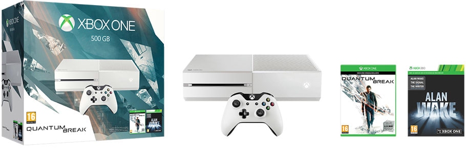 White Xbox One 500GB Console with Quantum Break, available only at GAME.co.uk