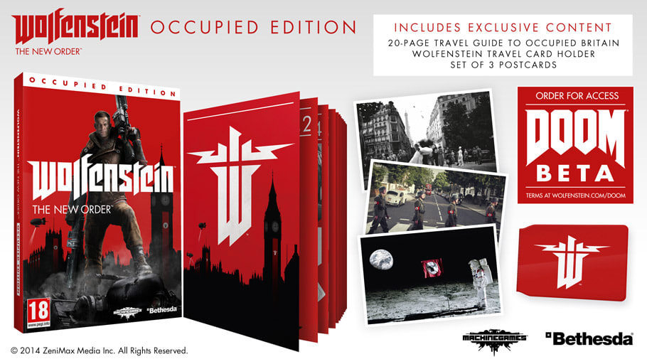 Wolfenstein: The New Order Occupied Edition avaialble on PlayStation 3, PlayStation 4, Xbox 360, Xbox One and PC: Only at GAME