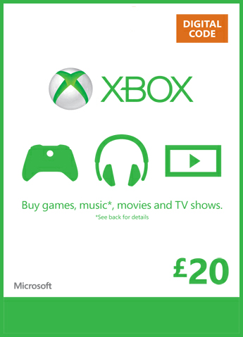 £20 Xbox Live Credit for xbox One at GAME