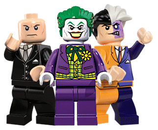 The Joker, Lex Luthor and Two Face in LEGO Batman 2 DC Superheroes