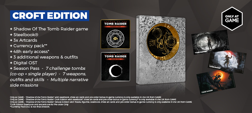 shadow of the tomb raider steelbook edition contents