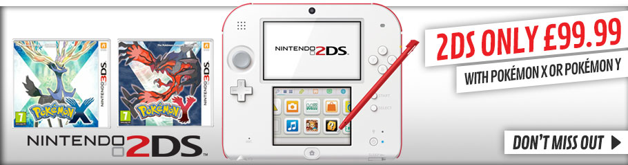 2DS with Pokemon X or Pokemon Y - Buy Now at GAME.co.uk!