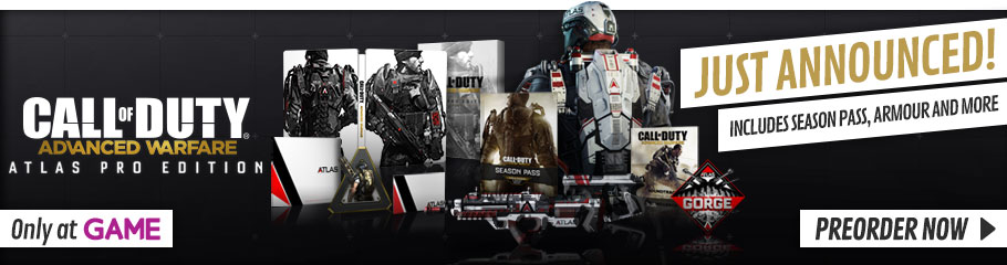 Call of Duty Advanced Warfare Atlas Pro Edition on Xbox One and PlayStation 4 - Preorder Now, Only at GAME.co.uk!