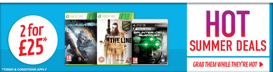 Hot Summer Deals 2 Games for £25 - Buy Now at GAME.co.uk!