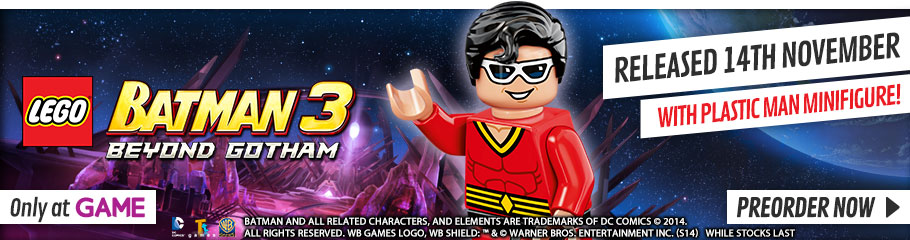 LEGO Batman 3 with Plastic Man - Preorder Now at GAME.co.uk!