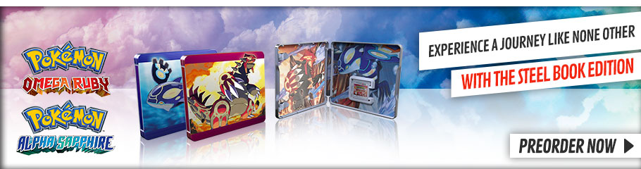 Pokemon Omega Ruby and Alpha Sapphire Steel Case - Preorder Now at GAME.co.uk!
