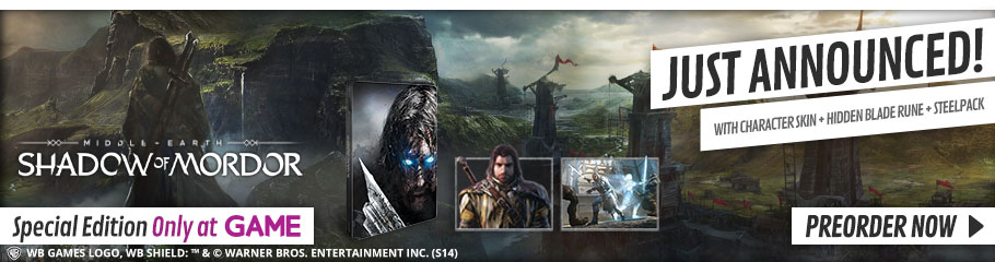Shadows of Mordor Special Edition - Only at GAME, Preorder Now at GAME.co.uk!