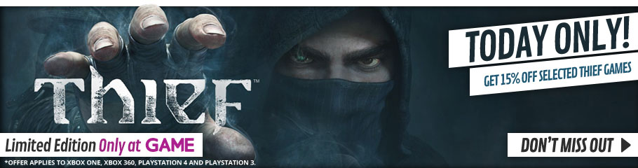 Get 15% Off Selected Thief Limited Edition Games - Buy Now at GAME.co.uk!