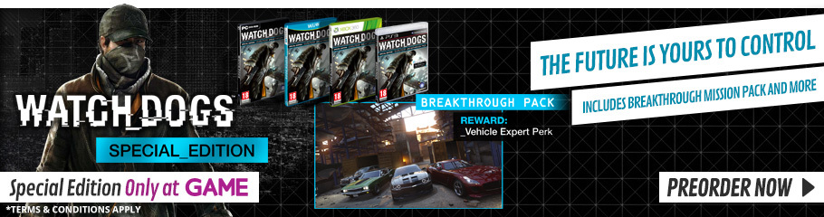 Watch Dogs  - Preorder Now at GAME.co.uk!