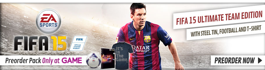 FIFA 15 Ultimate Team with Preorder Pack Only at GAME - Preorder Now at GAME.co.uk