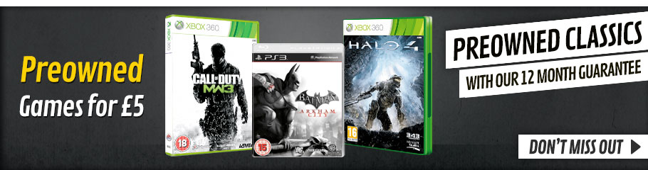 Preowned Games for only £5 - Buy Now at GAME.co.uk!