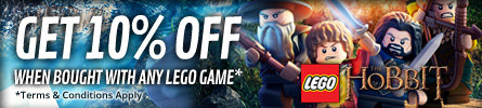 Save 10% On the LEGO: The Hobbit Offer when bought with any LEGO Game - Terms and Conditions Apply - at GAME.co.uk!