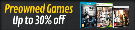 Preowned up to 30% Off Games - at GAME.co.uk!