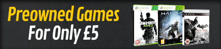 Pick up a preowned game for £5 - at GAME.co.uk