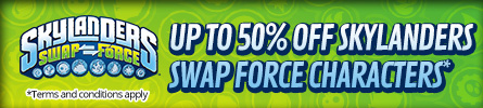 Up tp 50% off Selected Skylanders Swap Force Characters -  at GAME.co.uk!