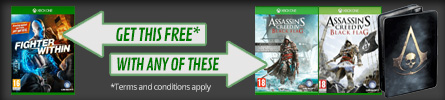 Get Fighter Within for free when bought with selected Assassin's Creed IV: Black Flag editions for Xbox One - at GAME.co.uk!
