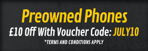 et £10 Off Preowned Mobile Phones with Voucher Code: JULY10 - at GAME.co.uk!