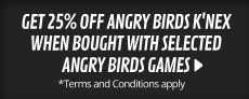 25% Angry Birds K'nex when bought with selected Angry Birds games - at GAME.co.uk