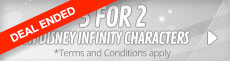 3 for 2 on Disney Infinity Characters - Terms and Conditions Apply - at GAME.co.uk