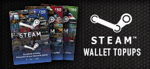 Steam Wallet Tops Ups - Order Now at game.co.uk!