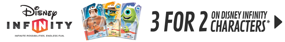Disney Infinity - 3 for 2 on selected Disney Infinity Characters - at Game.co.uk