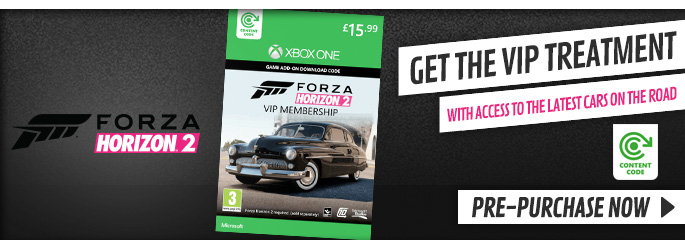 Forza Horizon 2 VIP Membership for Xbox LIVE - Downloads at GAME.co.uk!